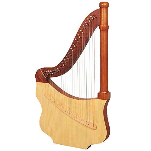 Harpe-luth, 22 cordes, en palissandre