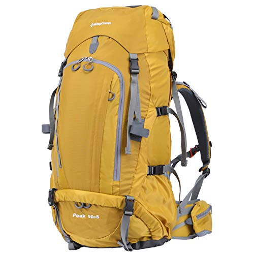 KingCamp 50+5 L Internal Frame Hiking Backpack Waterproof Lightweight Packable Durable Outdoor Travel Sport High-Performance Backpack for Moutain Climbing Camping Backpacking