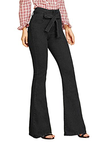 Women's Regular Fit Washed High Waist Stretch Flared Bootcut Jeans