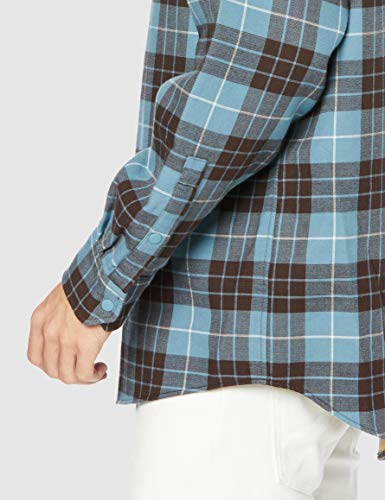 [ラコステ]シャツ[公式]LACOSTEL!VEオーバーサイズフランネルシャツメンズCH1185Lブルー日本サイズM相当