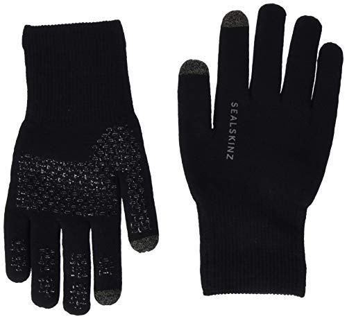 Photo of SealSkinz Men's Waterproof All Weather Ultra Grip Knitted Gloves, Black, Large