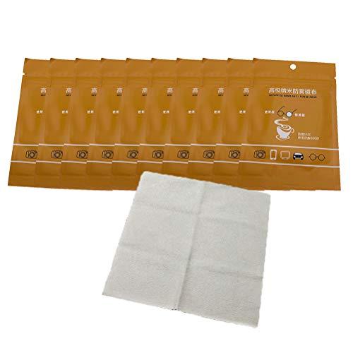 Knowoo 10 Piezas de toallita antivaho, toallita de Limpieza de Tela antivaho para anteojos, tabletas, Pantallas, toallita para Lentes de cámara