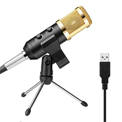 USB Computer Microfoon Online Game Speciaal Microfoon Netwerk Anker Karaoke Speciale Condenser Microfoon (Kleur : Zwart)