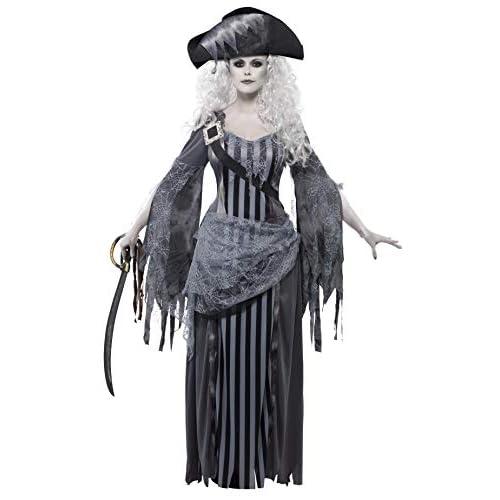 Smiffys Costume Principessa Nave dei Fantasmi, Grigio, comprende Abito e Cappello, Large