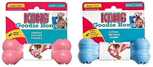 KONG Puppy Goodie Bone - Juguete para Morder De Cachorro (Colores Surtidos) ✅