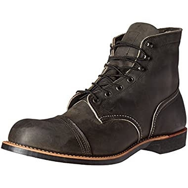 Red Wing Heritage Men's Iron Ranger Work Boot, Charcoal Rough and Tough, 9 D US