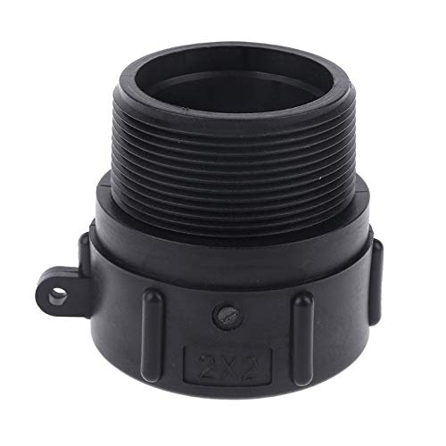 Pipe Fitting 1000L IBC Tote Tank Garden Hose Heavy Duty BSP Adaptor Barrels Valve Parts S60x6 Female Buttress x 2' Male NPT Pipe Y4Qc