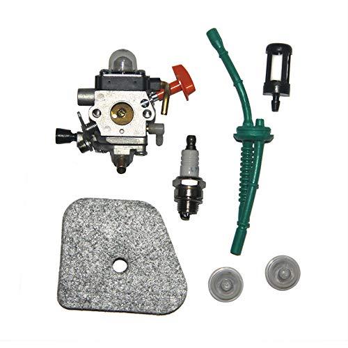 Nouveau carburateur avec filtre à air Filtre à carburant Bougie d'allumage pour Stihl FS87 FS90 FS100 FS110 HT100 HT101 HL100 HL90 Carb remplace 4180 120 0611
