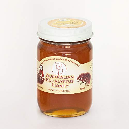 Australian Eucalyptus Raw Honey 16 Oz.  1 LB Pure 453g 100% Natural Grade A Gift Wrapped