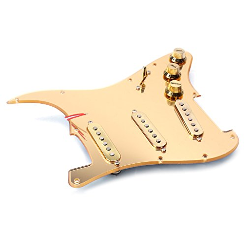 Timiy Prewired Pickuguard Assembly Loaded Pickguard Set for Strat Straocaster ST Guitar Parts