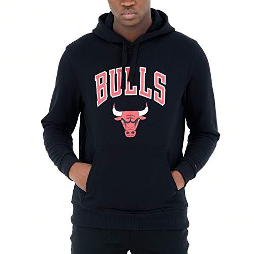 New Era Chicago Bulls Blk Sudadera con Capucha, Hombre, Negro, M