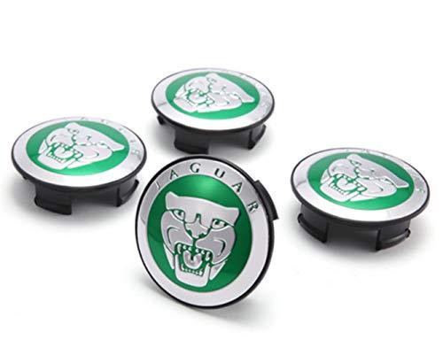 4PCS 59 mm Tapas de Cubo de Centro de Rueda Logo Insignia Emblema Jaguar Verde