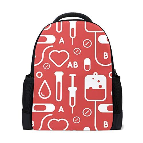 MALPLENA Mochila de senderismo tipo dibujo de sangre bolsa de viaje mochila escolar