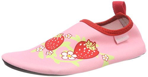Playshoes Unisex-Kinder Badeslipper Aqua-Schuhe Erdebeere, Pink (rosa), 22/23 EU