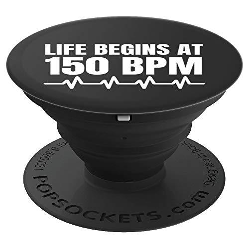 Life begins at 150 BPM Hardstyle Merchandise - PopSockets Ausziehbarer Sockel und Griff für Smartphones und Tablets