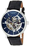 Akribos Reloj Esqueletonizado Mecánico Automático Regalo del Día del Padre – Correa de Cuero Genuino en Relieve de Cocodrilo – Reloj Esqueletonizado Mecánico Automático Ver a través de Dial – AK1020