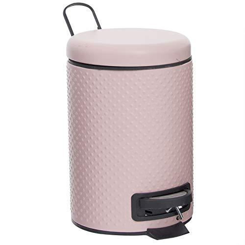 Makingifts Papelera Cubo Basura Reciclaje con Pedal y Tapa Ostrich 3 Lit Rosa