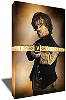 The Game of Thrones Tyrion Lannister Painting Portrait Artwork on Canvas Art Print (16x24 inches)