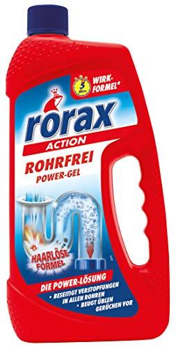 rorax Rohrfrei Power-Gel, 6er Pack (6 x 1 l), 0112111, Gelblich