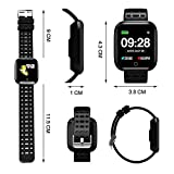 Azorex SmartWatch Multifunción Reloj Inteligente Cuadrado Deportivo Impermeable IP67, Pulsera Actividad Control Remoto para iPhone Xiaomi, Huawei Samsung Correa Silicona Verde