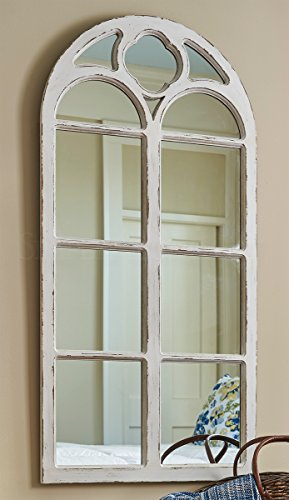 Park Designs Wood Window Mirror Distressed - White