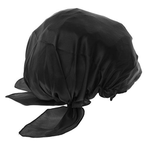 Phenovo Bonnet de nuit en soie Noir