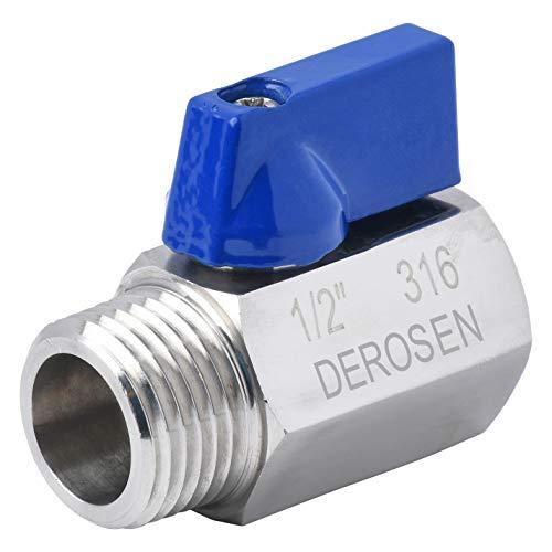 Derosen Stainless Steel Mini Ball Valves 1/4