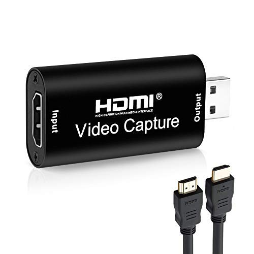 Tobo Audio Video Capture Cards, HDMI to USB 2.0, HDMI Capture Device 1080p60, Record via DSLR Camcorder for High Definition Acquisition, Live Broadcasting and More, Game Capture Card