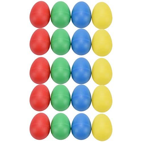 Kaxofang 20 Piezas Agitador De Huevo Agitador De Huevo Musical De Plastico con 4 Colores Huevo Maracas De Ninos Juguetes De Percusion