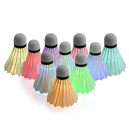 LianMengMVP 8/10 Stück LED Badminton, Federbälle Beleuchtung,Federball Shuttlecock für Indoor Outdoor Entertainment Sportzubehör Sportsaktivitäten