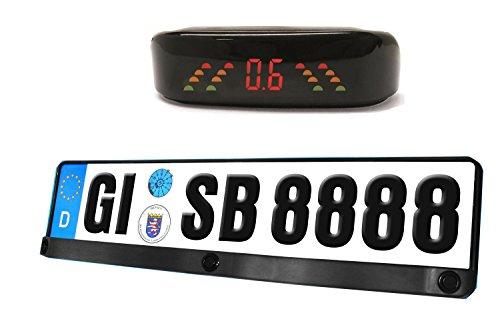 Einparkhilfe Rückfahrwarner Kennzeichen Nummernschild Halterung YMPA EH-NS