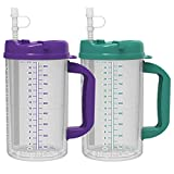 32 oz Whirley Insulated Travel Mugs Teal & Purple