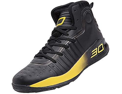SINOES Zapatillas de Baloncesto con Cordones en la Parte Delantera Zapatillas de Deporte con protección Antideslizante en la Espalda para HombresZapatillas de Baloncesto