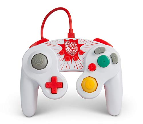 PowerA Wired GameCube Style Controller for Nintendo Switch - Mario, Gamepad, Wired Video Game Controller, Gaming Controller, GameCube Controller - Nintendo Switch