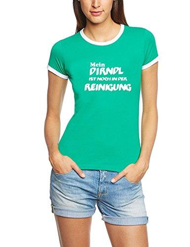 Mein Dirndl ist noch in der Reinigung ! Damen Ringer Oktoberfest Wiesn T-Shirt Green_RIGI Ringer Gr.XL