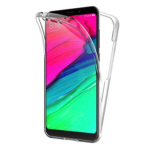 TBOC Cover per Xiaomi Redmi 5 Plus - Redmi 5Plus (5.99') - Custodia [Trasparente] Completa Copertura Integrale [Silicone TPU] Protezione Totale [360 Gradi] Full Body Anteriore Posteriore Sottile Case