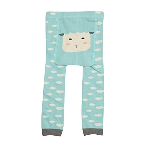 Collants pour bébés tout-petits, Meedot Coton Collants pour bébés Body-Stocking Ninth Leggings Blue Sheep S/0-2 years
