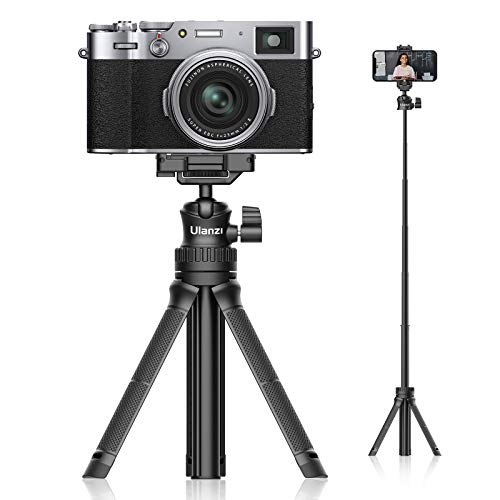 2021進化版Ulanzi MT-34 カメラ三脚 軽量 自撮り棒 ミニ三脚 卓上 スマホ三脚 セルカ棒 スマートフォン用三脚 360度回転 6段伸縮 ビデオカメラ ボール雲台 持ち運びに便利 iPhone12  Android スマホ カメラ gopro  Pocket1 2  アクションカメラに対応