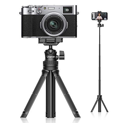Ulanzi MT-34 カメラ三脚 軽量 自撮り棒 ミニ三脚 卓上 スマホ三脚 セルカ棒 スマートフォン用三脚 360度回転 6段伸縮 ビデオカメラ ボール雲台 持ち運びに便利 iPhone12 /Android/スマホ/カメラ/gopro/ Pocket1 2/ アクションカメラに対応