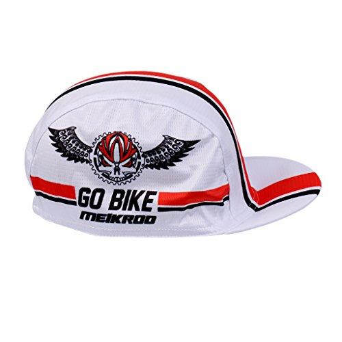 MagiDeal Monter à Plat Moto Vélo Motard Loisirs Chapeau Casual Casquette de Baseball pour Escalade Course Cyclisme Moto Randonnée Rouge Blanc