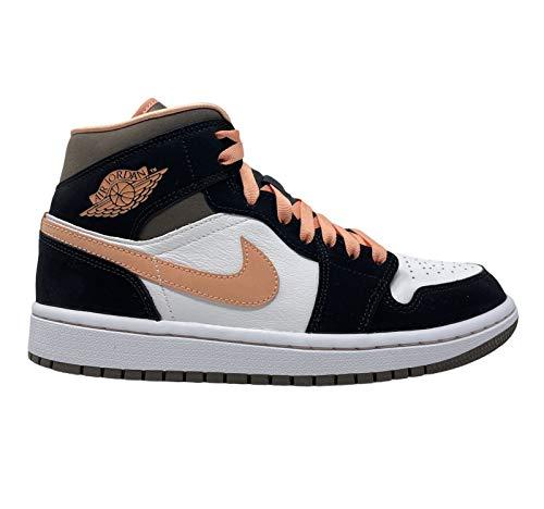 Nike Jordan 1 Mid Peach Mocha Women Black/Brown/Peach DH0210-100 (Numeric_10)