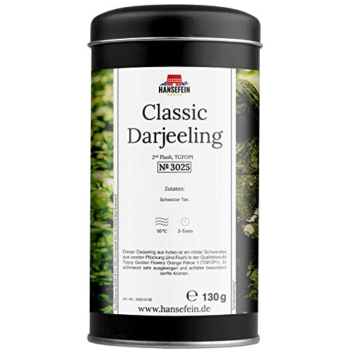 Hansefein Classic Darjeeling Schwarzer Tee 2nd Flush TGFOP1 130g
