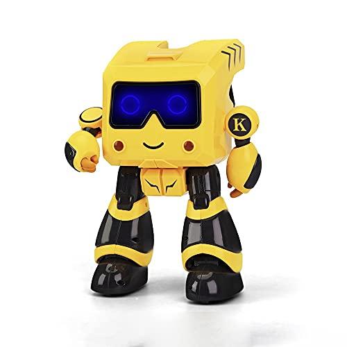 Robot Juguetes para niños, robots de baile, juguetes de educación temprana inteligentes para niños, hucha, rompecabezas Dancing Storytelling Control remoto Robot Boy Chica Cumpleaños, Regalo de Navida