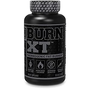 Burn XT Black Thermogenic Fat Burner – Weight Loss Supplement, Appetite Suppressant, Nootropic Energy Booster W/TeaCrine – Premium Acetyl L-Carnitine, Green Tea Extract, Capsimax – 90 Veg Diet Pills
