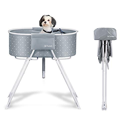 Furesh Elevated Folding Dog Bath Tub and Wash Station