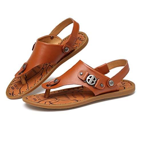 Sandalias Hombre Marrón Claro 240 mm Moda Playa Zapatos Sandalias Doble Uso Suave Cómodo (Color: Marrón Claro, Tamaño: 240 mm)