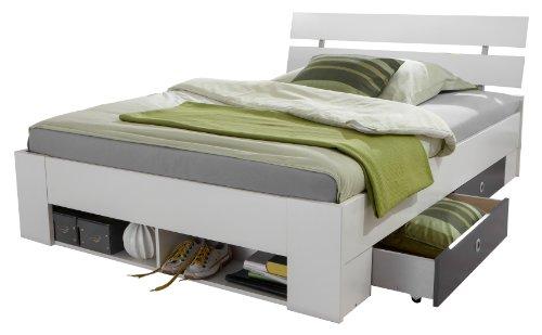 Wimex Bett/ Funktionsbett Rocco, 4 Schubladen, 1 Regalfach, Liegefläche 140 x 200 cm, Mehrfarbig