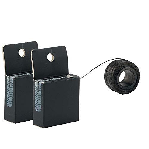 Locisne 2er Pack Pre-Inked Brow Mapping String Line, 10M Augenbrauen Faden Tattoo Lineal Zubehör Messwerkzeug für Microblading Set Micronumbing