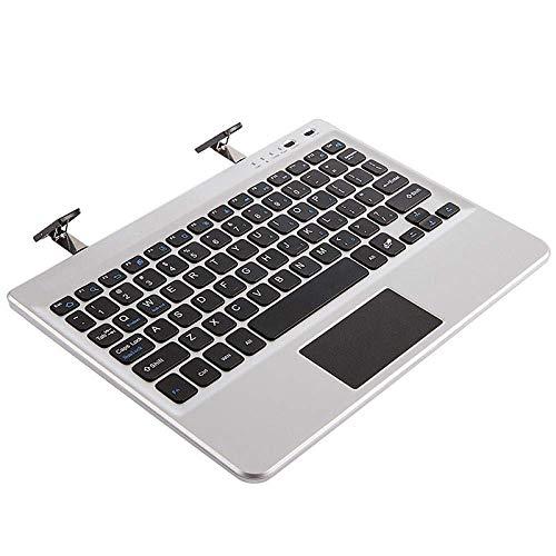 ZGQA-GQA Teclado Bluetooth 7 8 10 Pulgadas Tres Teclado Teclado Bluetooth, Blanco