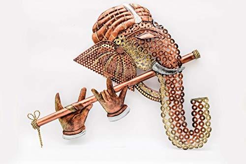 ENRICH Metal Lord Ganesh Wall Mounted & Hanging Art...